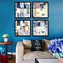 رخيصةأون رسومات زيتية-تجريدي مناظر طبيعية توضيح جدار الفن,البلاستيك مادة مع الإطار For تصميم ديكور المنزل الفن الإطار غرفة الجلوس داخلي