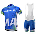 cheap Cycling Jersey & Shorts / Pants Sets-Malciklo Men's Short Sleeve Cycling Jersey with Bib Shorts - White / Black Geometic / British Bike Clothing Suit, 3D Pad, Quick Dry, Breathable Coolmax®, Lycra Geometic / High Elasticity