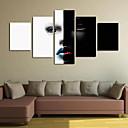 baratos Laminado Impressão De Canvas-Laminado Impressão De Canvas Clássico, 5 Painéis Panorâmico vertical Estampado Decoração de Parede Decoração para casa