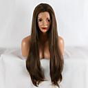 billige Clutch- og aftentasker-Syntetisk Lace Front Parykker Lige Brun Syntetisk hår Afro-amerikansk paryk Brun Paryk 20-40 tommer (ca. 50-100cm) Blonde Front Beige