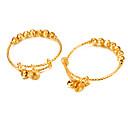 זול צמידי גברים-2pcs בגדי ריקוד גברים בגדי ריקוד נשים צמידים - ציפוי זהב אופנתי צמידים תכשיטים זהב עבור מתנה