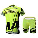 abordables Sets de Maillots Ciclistas y Shorts / Pantalones-Malciklo Hombre Manga Corta Maillot de Ciclismo con Shorts - Verde Británico Bicicleta Sets de Prendas, Almohadilla 3D, Secado rápido,