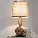 זול מנורות שולחן-מודרני / עכשווי דקורטיבי מנורת שולחן עבור חדר שינה חבל קנבוס 220V