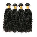 זול Others-4 חבילות שיער ברזיאלי Kinky Curly שיער אנושי טווה שיער אדם 8-28 אִינְטשׁ שוזרת שיער אנושי תוספות שיער אדם