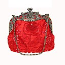 cheap Clutches & Evening Bags-Women's Bags Polyester Evening Bag Beading / Embroidery Purple / Coffee / Khaki