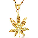 cheap Jewelry Sets-Men's Pendant Necklace - Leaf Fashion Gold, Black, Silver Necklace For Daily, Street