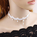 cheap Historical & Vintage Costumes-Women's Choker Necklace - Lace Floral / Botanicals, Flower European, Fashion White, Black Necklace Jewelry For Wedding, Party / Evening