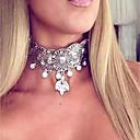 זול שרשרת אופנתית-בגדי ריקוד נשים שרשראות מחרוזת - יהלום מדומה וינטאג', אופנתי, גדול זהב, כסף 37 cm שרשראות עבור מועדונים, בר
