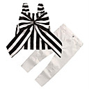 זול ג'קטים ומעילים לבנות-סט של בגדים חוטי זהורית קיץ ללא שרוולים יומי ליציאה פסים בנות יום יומי סגנון רחוב לבן