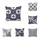 cheap Tool Sets-6 pcs Textile Cotton/Linen Pillow Cover, Geometric Plaid/Check