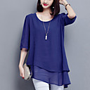 cheap Women's Flats-Women's Going out Street chic Plus Size Loose Blouse - Solid Colored, Basic