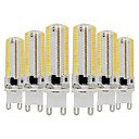 abordables Luces LED de 2 Pin-ywxlight® 6pcs g9 3014 7w 600-700lm luces led bi-pin regulables blanco cálido blanco fresco blanco natural 360 luces de ángulo de haz foco 110-130v 220-240v