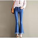 preiswerte Modische Uhren-Damen Übergrössen Hohe Taillenlinie Jeans Hose Solide