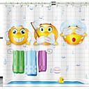 cheap Shower Curtains-Shower Curtains & Hooks Modern Polyester Novelty Machine Made Waterproof
