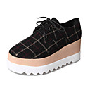 cheap Totes-Women's Shoes Fabric Spring Comfort Oxfords Creepers Round Toe Black / Beige / Coffee