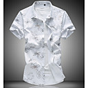 זול עגילים-פרחוני רזה סגנון רחוב חולצה - בגדי ריקוד גברים / שרוולים קצרים