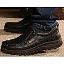 tanie Męskie mokasyny-Męskie Komfortowe buty Skóra bydlęca Jesień / Zima Mokasyny i buty wsuwane Czarny / Brązowy