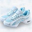 baratos Tênis de Dança-Mulheres Tênis de Dança Lona / Tule Têni Recortes Salto Baixo Personalizável Sapatos de Dança Azul / Branco