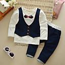 ieftine Seturi Îmbrăcăminte Băieți-Copil Băieți Simplu / Vintage / De Bază Petrecere Mată / Peteci Funde Manșon Lung Bumbac Set Îmbrăcăminte