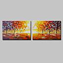 halpa Maisema maalaukset-Hang-Painted öljymaalaus Maalattu - Abstrakti Maisema Moderni Sisällytä Inner Frame / Venytetty kangas