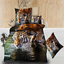 cheap 3D Duvet Covers-Duvet Cover Sets 3D Poly / Cotton Printed 4 Piece