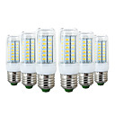 preiswerte LED Glühbirnen-YWXLIGHT® 6pcs 6W 600-700lm E26 / E27 LED Mais-Birnen 56 LED-Perlen SMD 5730 Warmes Weiß Kühles Weiß 110-130V 220-240V
