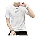 ieftine Maieu & Tricouri Bărbați-Bărbați Rotund Tricou Șic Stradă - Scrisă Culoare pură Imprimeu