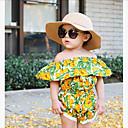 levne Dětské šatičky-Toddler Dívčí Cikánský Dovolená / Jdeme ven Květinový / Žakár Třásně Krátký rukáv Standardní Umělé hedvábí Blůzky Trávová zelená / Roztomilý