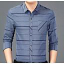 baratos Acessórios Masculinos-Homens Camisa Social Negócio Listrado