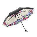 זול מטרייה/מטריית שמש-בד בגדי ריקוד נשים סאני וגשום / עמיד לרוח / חדש מטריה מתקפלת