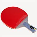 זול שולחן טניס-DHS® Hurricane HAO CS Ping Pang/מחבטי טניס שולחן עץ סיבי פחמן גוּמִי ידית קצרה פצעונים