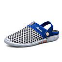 tanie Żyrandole-Męskie Komfortowe buty Tiul Lato Klapki i japonki brązowy / Niebieski / Biały / Niebieski