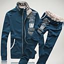 abordables Zapatillas de Hombre-Hombre Delgado Pantalones - Un Color Verde Ejército / Escote Chino / Manga Larga / Otoño / Invierno