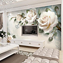 cheap Wall Murals-Floral Art Deco 3D Home Decoration Vintage Modern Wall Covering, Canvas Material Adhesive required Mural, Room Wallcovering