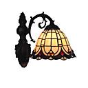 preiswerte Wandleuchten-Durchmesser 20 cm Retro Land Meerjungfrau Tiffany Wandleuchten Glas Schatten Wohnzimmer Schlafzimmer Leuchte