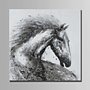 זול ציורי שמן-ציור שמן צבוע-Hang מצויר ביד - מופשט מודרני ללא מסגרת פנימית / בד מגולגל