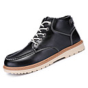 cheap Men's Boots-Men's Fashion Boots PU(Polyurethane) Spring / Fall Comfort Boots Mid-Calf Boots Black / Brown / Blue