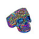 cheap Men's Rings-Men's Statement Ring - Skull Rock, Colorful 9 Gold / Silver / Rainbow For Club Bar