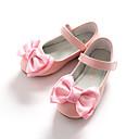 זול נעלי ילדות-בנות נעליים דמוי עור אביב / סתיו בלרינה / נעליים לילדת הפרחים שטוחות פפיון / סקוטש ל לבן / ורוד
