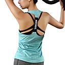 hesapli Fitness, Koşu ve Yoga Kıyafetleri-Kadın's Koszulka do biegania Yeşil Mavi Pembe Spor Dalları Solid Kısa Paltolar Dış Mekan Egzersizi Çoklu Spor Kolsuz Aktif Giyim Hava Alan Streç