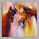 tanie Obrazy: abstrakcja-Hang-Malowane obraz olejny Ręcznie malowane - Streszczenie Nowoczesny Brezentowy