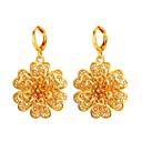 olcso Divat fülbevalók-Női Francia kapcsos fülbevalók - Arannyal bevont Virág Divat Arany / Ezüst Kompatibilitás Estély Diákbál