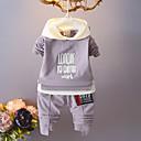 billige Zentai-Baby Unisex Fritid / Grunnleggende Fest Ensfarget / Trykt mønster / Jacquardvevnad Trykt mønster Langermet Bomull Tøysett