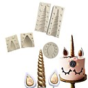 cheap Kitchen Organization-Bakeware tools Silicone 3D / Christmas / DIY Cake Cake Molds 5pcs