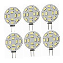 cheap LED Spot Lights-SENCART 6pcs 5W 360lm G4 LED Bi-pin Lights T 12 LED Beads SMD 5730 Decorative Warm White / Cold White 12-24V