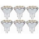 tanie Portfele-SENCART 6szt 5W 160lm MR11 Żarówki LED bi-pin MR11 12 Koraliki LED SMD 5060 Dekoracyjna Ciepła biel / Biały 12-24V / RoHs