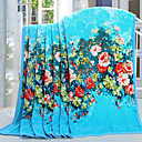 cheap Blankets & Throws-Coral fleece, Reactive Print Floral Cotton / Polyester / Polyester Blankets