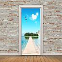 tanie Naklejki ścienne-Naklejki na drzwi - Naklejki ścienne lotnicze / Naklejki ścienne 3D Krajobraz / Martwa natura Sypialnia / Domowy / Możliwość zmiany miejsca