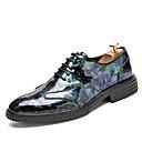 رخيصةأون أحذية أوكسفورد للرجال-رجالي أحذية الراحة Leather نابا الصيف الأعمال التجارية / كاجوال أوكسفورد المشي متنفس أسود / أرجواني / أزرق