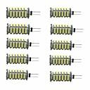 billige LED-lyspærer-10pcs 3W 350lm G4 LED-lamper med G-sokkel T 1 LED perler SMD 3528 Dekorativ Varm hvit Kjølig hvit 12V